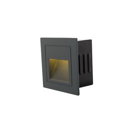 Встраиваемый настенный светодиодный светильник Denkirs DK1016-DG, IP54, LED 3W 3000K, серый, металл