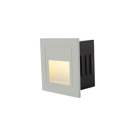 Встраиваемый настенный светодиодный светильник Denkirs DK1016-WH, IP54, LED 3W 3000K, белый, металл
