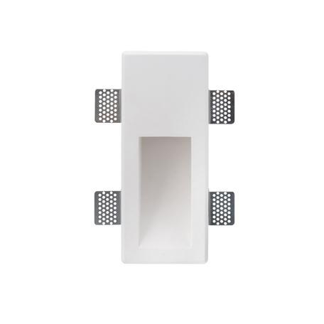 Встраиваемый настенный светильник Denkirs DK5004-GY, 1xGU10x50W, белый, гипс