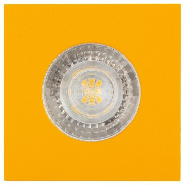 Встраиваемый светильник Denkirs DK2031-YE, 1xGU10x50W, желтый, металл