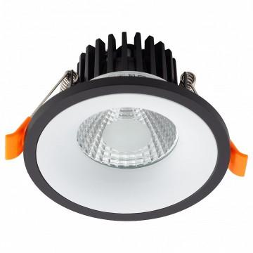 Встраиваемый светодиодный светильник Denkirs DK4001-WH, LED 5W 3000K 560lm, белый, черный, металл