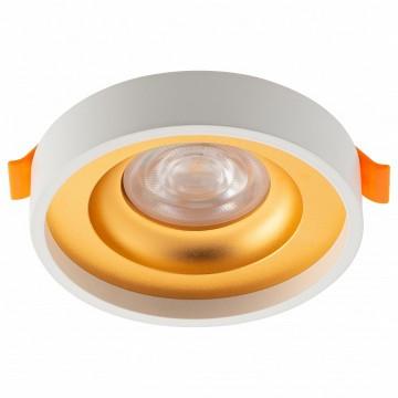 Встраиваемый светодиодный светильник Denkirs DK4006-GD, LED 9W 3000K 724lm, белый, матовое золото, металл