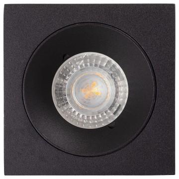 Встраиваемый светильник Denkirs DK2025-BK, 1xGU10x50W, черный, металл