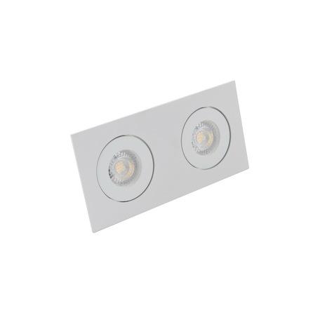 Встраиваемый светильник Denkirs DK2020-WH, 2xGU10x50W, белый, металл