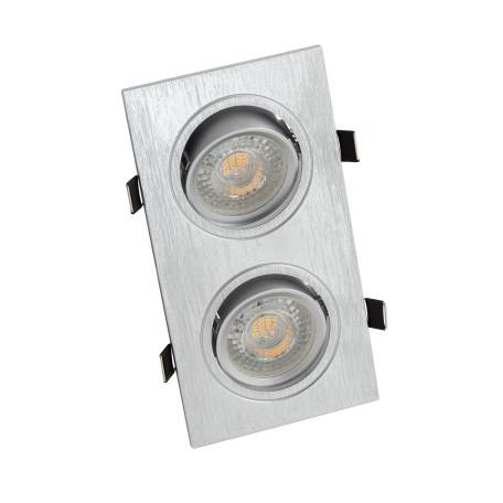Встраиваемый светильник Denkirs DK3022-CM, 2xGU5.3x10W, алюминий, пластик
