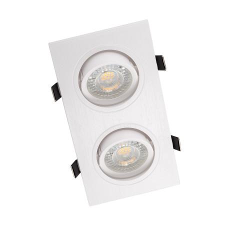 Встраиваемый светильник Denkirs DK3022-WH, 2xGU5.3x10W, белый, пластик
