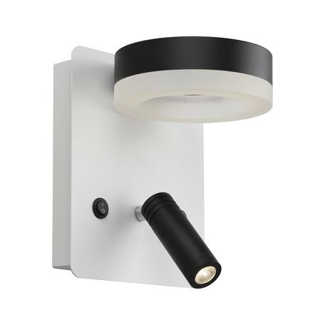 Светодиодный светильник Omnilux Sorano OML-10911-02, LED 8W 4000K 440lm, белый, черный с белым, металл, металл с пластиком