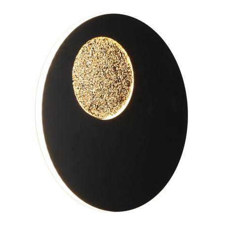 Светодиодный светильник Omnilux Rovereto OML-12211-21, LED 21W 3000K 1155lm, черный с золотом, металл