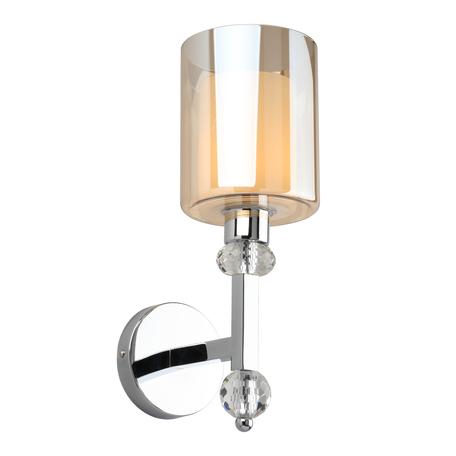 Светильник Omnilux Malito OML-79901-01, 1xE27x40W, хром с прозрачным, янтарь, металл с хрусталем, стекло
