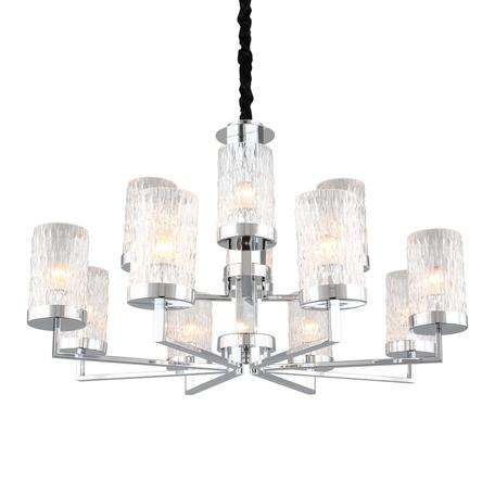 Светильник Omnilux Maiera OML-84703-12, 12xE14x40W, хром, прозрачный, металл, стекло
