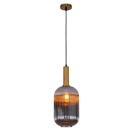 Светильник Omnilux Terrenove OML-99506-01, 1xE27x40W, бронза, дымчатый, металл, стекло