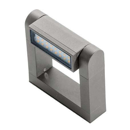 Настенный светодиодный светильник Azzardo Frame AZ2133, LED 8W 3000K 800lm, серый, металл
