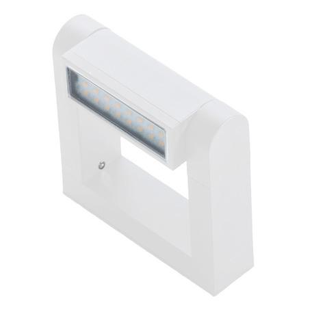 Настенный светодиодный светильник Azzardo Frame AZ2134, LED 8W 3000K 800lm, белый, металл