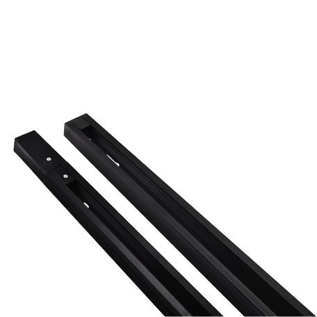Шинопровод в сборе с питанием и заглушкой Arte Lamp Instyle A520206, черный, металл