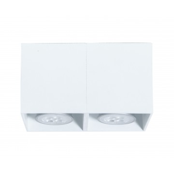 Потолочный светильник Topdecor Tubo SQ P4 10, 2xGU10x50W, белый, металл