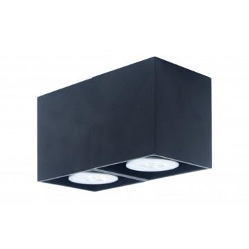 Потолочный светильник Topdecor Tubo SQ P4 12, 2xGU10x50W, черный, металл