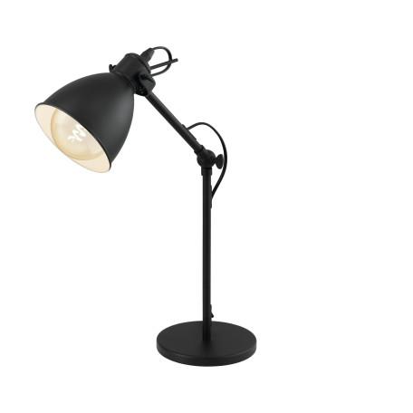 Настольная лампа Eglo Trend & Vintage Industrial Priddy 49469, 1xE27x40W, черный, металл