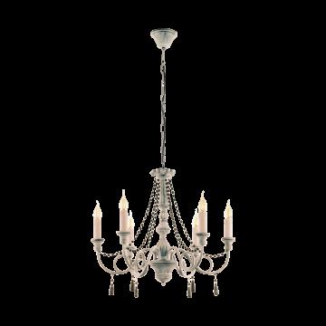 Подвесная люстра Eglo Colchester 49752, 6xE14x40W, серый, коричневый, дерево, металл