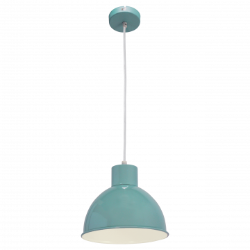 Подвесной светильник Eglo Truro 1 49239, 1xE27x60W, бирюзовый, металл