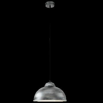 Подвесной светильник Eglo Truro 2 49389, 1xE27x60W, серебро, металл
