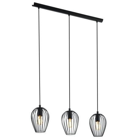 Подвесной светильник Eglo Trend & Vintage Loft Newtown 49478, 3xE27x60W, черный, металл