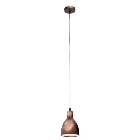 Подвесной светильник Eglo Trend & Vintage Industrial Priddy 1 49492, 1xE27x60W, медь, металл