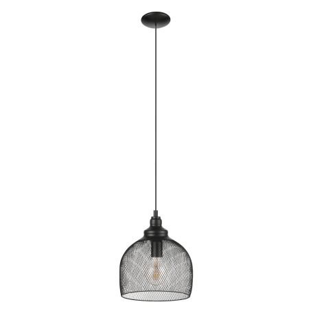 Подвесной светильник Eglo Trend & Vintage Loft Straiton 49736, 1xE27x60W, черный, металл