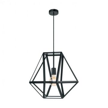 Подвесной светильник Eglo Embleton 49756, 1xE27x60W, черный, металл