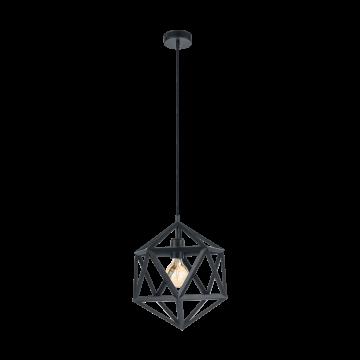 Подвесной светильник Eglo Embleton 49761, 1xE27x60W, черный, металл
