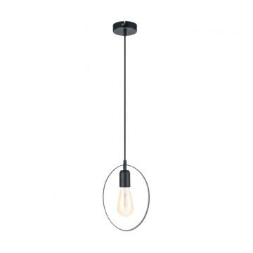 Подвесной светильник Eglo Bedington 49775, 1xE27x60W, черный, металл