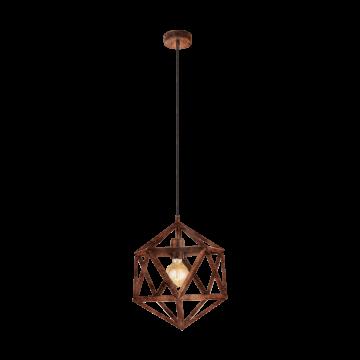 Подвесной светильник Eglo Embleton 49797, 1xE27x60W, медь, металл