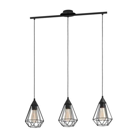 Подвесной светильник Eglo Trend & Vintage Loft Tarbes 94189, 3xE27x60W, черный, металл