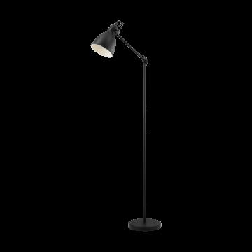 Торшер Eglo Priddy 49471, 1xE27x40W, черный, металл