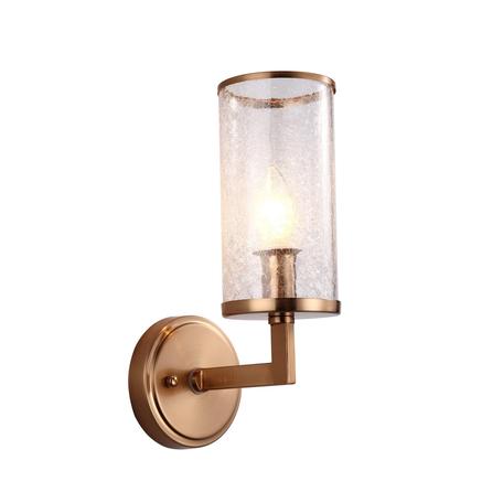 Настенный светильник Lumina Deco Howard LDW 8040-1 MD, 1xE27x40W, матовое золото, прозрачный, металл, стекло