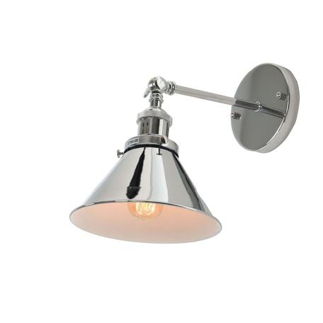 Настенный светильник с регулировкой направления света Lumina Deco Gubi LDW B005-1 CHR, 1xE27x40W, хром, металл