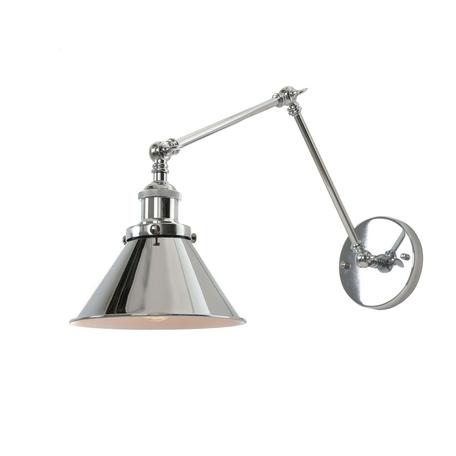 Настенный светильник с регулировкой направления света Lumina Deco Gubi LDW B005-2 CHR, 1xE27x40W, хром, металл