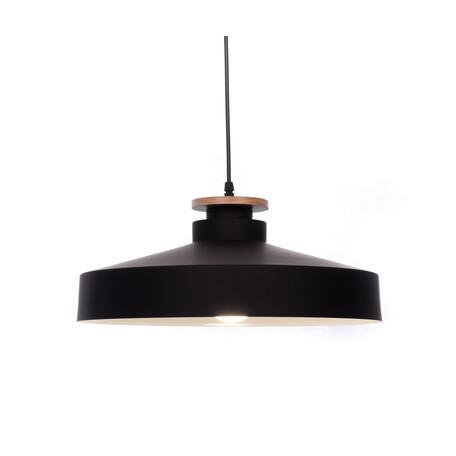 Подвесной светильник Lumina Deco Ludor LDP 7974-400 BK+WT, 1xE27x40W, черный, металл с деревом, металл