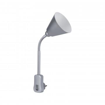 Штекерный светильник с регулировкой направления света Paulmann Junus 95429, 1xE14x20W, серый, пластик, металл