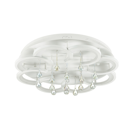 Потолочная светодиодная люстра с пультом ДУ Lumion Jojo 4448/84CL 3000-6000K, белый, прозрачный, металл, пластик, стекло