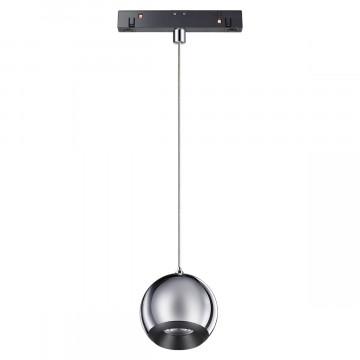 Светодиодный светильник Novotech Shino Flum 358403, LED 10W 4000K 850lm, черный, хром, металл