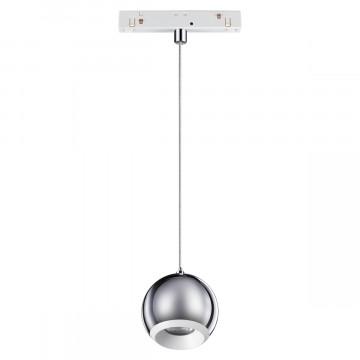 Светодиодный светильник Novotech Shino Flum 358404, LED 10W 4000K 850lm, белый, хром, металл