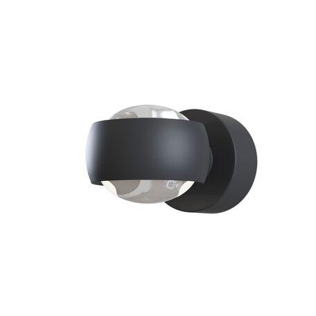 Настенный светодиодный светильник Maytoni Lens MOD072WL-L8B3K, IP54, LED 8W 3000K 950lm CRI80, черный, металл, металл с пластиком, пластик с металлом
