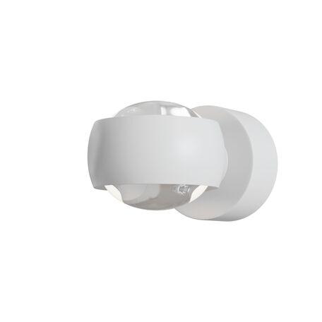 Настенный светодиодный светильник Maytoni Lens MOD072WL-L8W3K, IP54, LED 8W 3000K 950lm CRI80, белый, металл, металл с пластиком