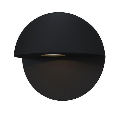 Настенный светодиодный светильник Maytoni Mezzo O033WL-L7B3K, IP54, LED 7W 3000K 500lm CRI80, черный, металл