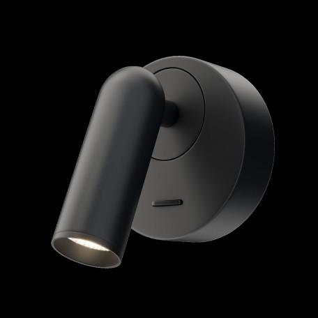 Настенный светодиодный светильник с регулировкой направления света Maytoni Mirax C038WL-L3B3K, LED 3W 3000K 150lm CRI80, черный, металл