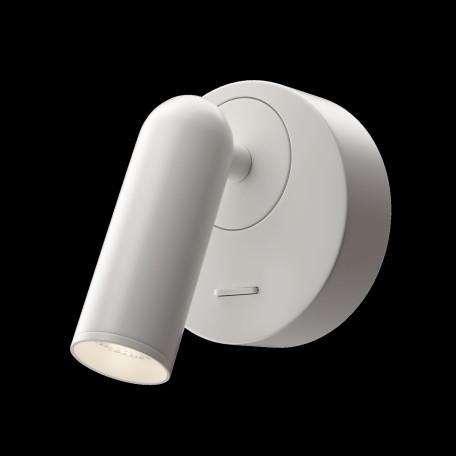 Настенный светодиодный светильник с регулировкой направления света Maytoni Technical Mirax C038WL-L3W3K, LED 3W 3000K 150lm CRI80, белый, металл