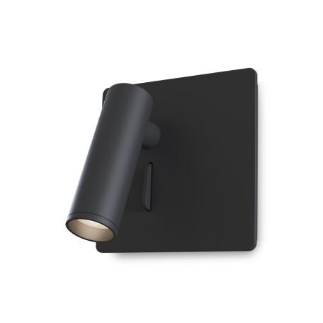 Настенный светодиодный светильник с регулировкой направления света Maytoni Mirax C040WL-L3B3K, LED 3W 3000K 150lm CRI80, черный, металл