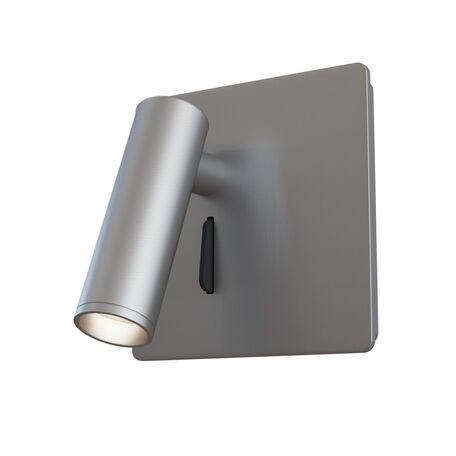 Настенный светодиодный светильник с регулировкой направления света Maytoni Technical Mirax C040WL-L3N3K, LED 3W 3000K 150lm CRI80, никель, металл