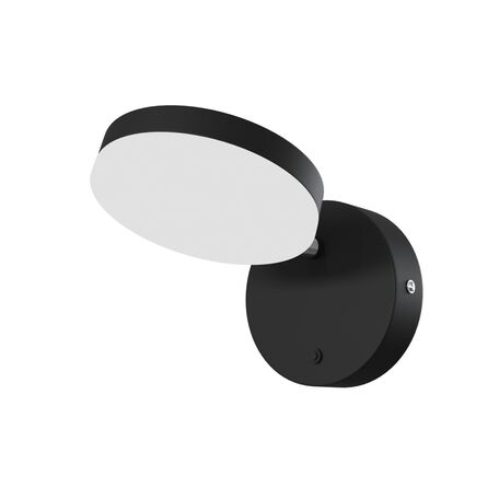 Настенный светодиодный светильник с регулировкой направления света Maytoni Fad MOD070WL-L8B3K, LED 8W 3000K 450lm CRI80, черный, металл, металл с пластиком