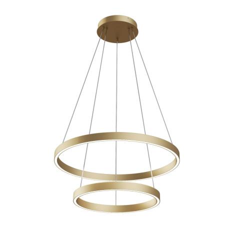 Подвесной светодиодный светильник Maytoni Rim MOD058PL-L55BS4K, LED 61W 4000K 3500lm CRI80, матовое золото, матовое золото с белым, металл, металл с пластиком